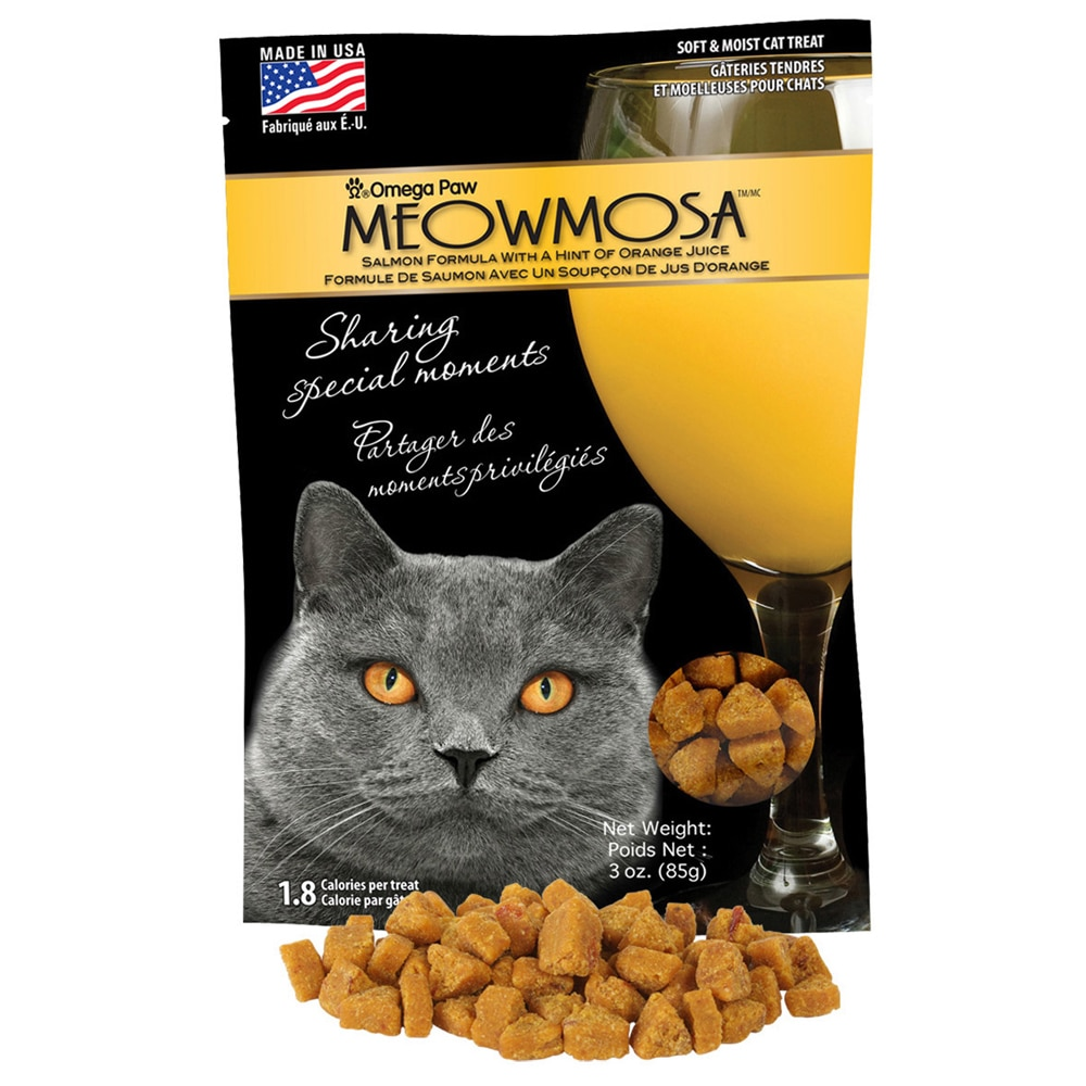 Omega Meowmosa Salmon Cat Treats (Salmon w/ a Hint of Ora...