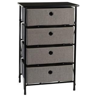 RiverRidge Home Sort and Store Bin Organizer (Grey/4 drawer)