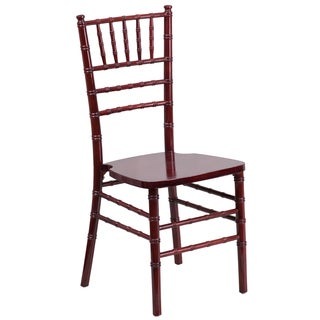 Paradise Wood Chiavari Ball Room Mahogany Color Chairs