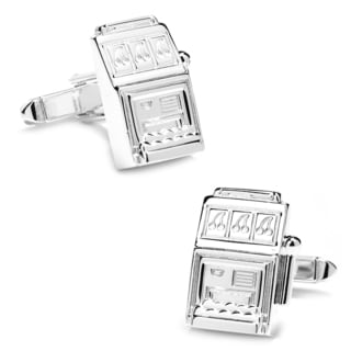 Sterling Slot Machine Cufflinks