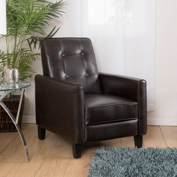 Ethan Tufted Bonded Leather Recliner Chair by Christopher Knight Home - Free Shipping Today - Overstock.com - 17435828 & Ethan Tufted Bonded Leather Recliner Chair by Christopher Knight ... islam-shia.org
