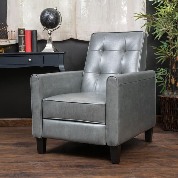 Ethan Tufted Bonded Leather Recliner Chair By
