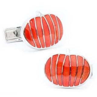 Sterling Pumpkin Cufflinks