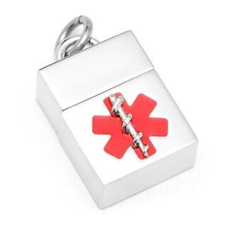 4GB Silver Medical USB Pendant