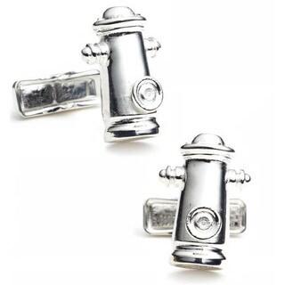 Sterling Fire Hydrant Cufflinks