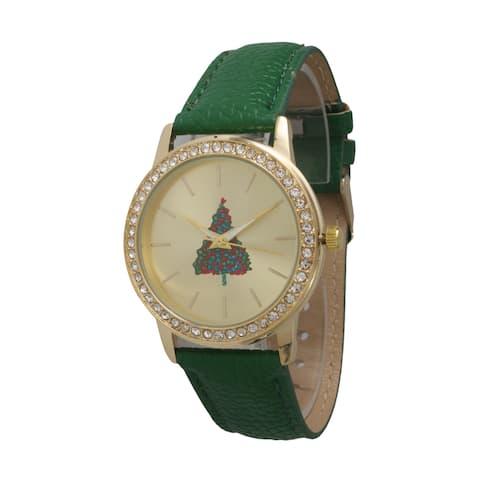Olivia Pratt Women's Rhinestone Holiday Watch