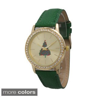 Olivia Pratt Women's Rhinestone Holiday Watch