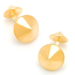 Gold Plated Double Spike Cufflinks