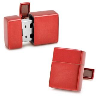Red 8GB USB Flash Drive Cufflinks