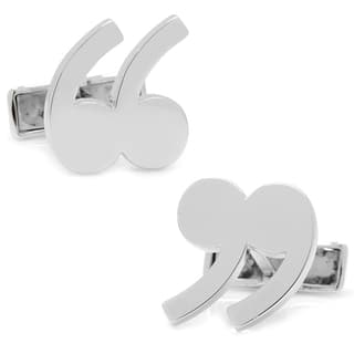 Sterling Quotation Mark Cufflinks|https://ak1.ostkcdn.com/images/products/10325331/P17435931.jpg?impolicy=medium