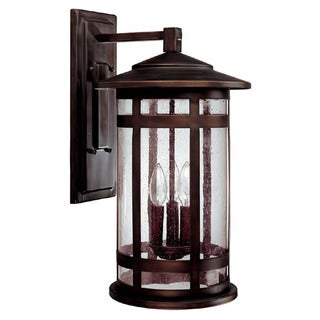 Capital Lighting Mission Hills Collection 3-light Burnished Bronze Outdoor Wall Lantern