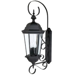 Capital Lighting Carraige House Collection 3-light Black Outdoor Wall Lantern