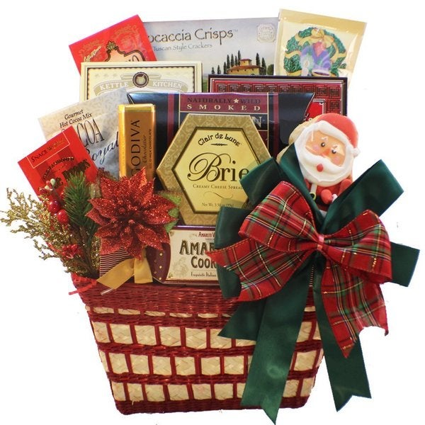 Shop Discontinued~Yuletide Wishes Christmas Holiday Smoked Salmon Gift Basket - Free Shipping Today - Overstock - 10325373
