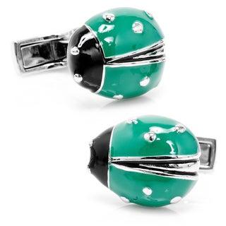 Green Lucky Ladybug Cufflinks