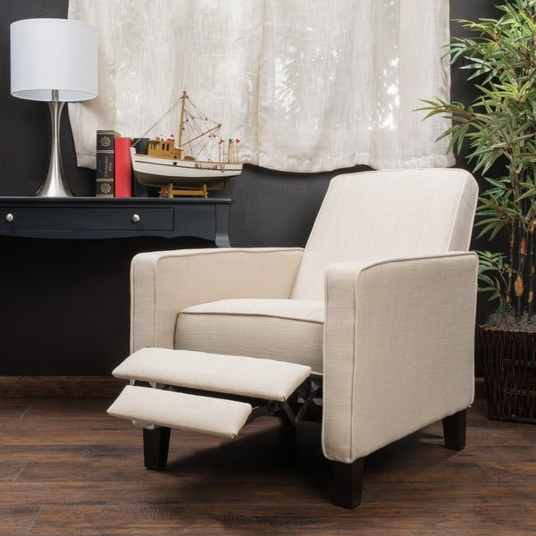 Jameson Channel Fabric Recliner Chair By Christopher Knight Home