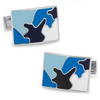 Palladium Sky Blue Camo Cufflinks