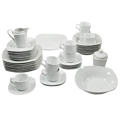 10 Strawberry Street Square Dinnerware 45-piece Set