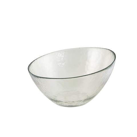10 Strawberry Street Hammered Glass 10-inch Angled Bowl (Set of 2)