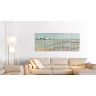 A Stroll Down On The Beach' 5-piece Canvas Wall Art Set
