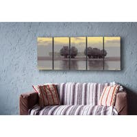Stupell Home Trees on a Lake 5-piece Wall Canvas Art Set