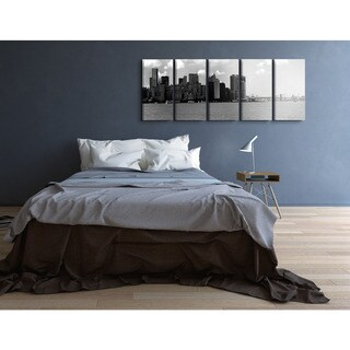Stupell Home 'Brooklyn Bridge and NYC Waterfront' 5-piece Canvas Wall Art Set
