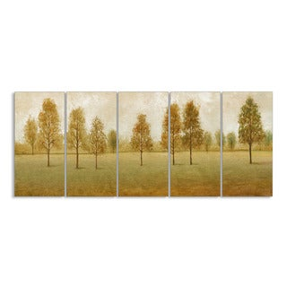 Stupell Home 'Trees in a Park' 5-piece Canvas Wall Art Set