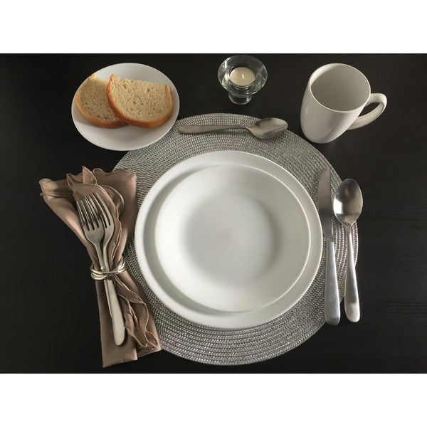 Corelle Livingware 38 piece Set Service for 12 Winter Frost White  sc 1 st  Overstock.com & Corelle Livingware 38 piece Set Service for 12 Winter Frost White ...