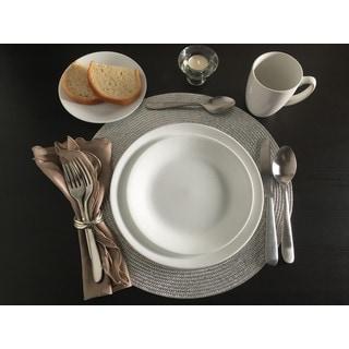 Corelle Livingware 38 piece Set, Service for 12, Winter Frost White