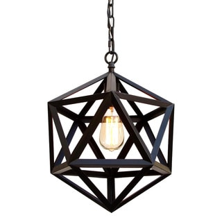 Wrought Iron Polyhedron Pendant Chandelier