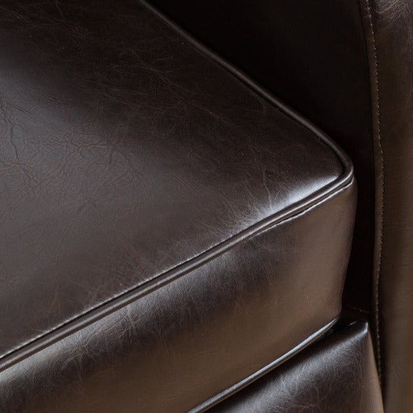carter wingback bonded leather recliner chair by christopher knight home free shipping today