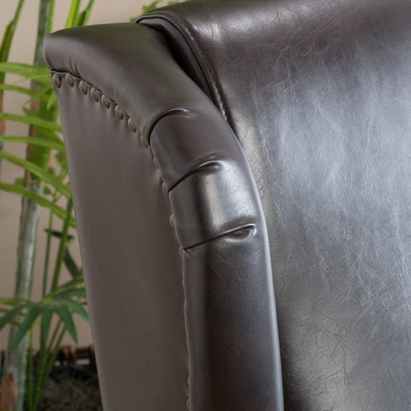 Carter Wing Back Bonded Leather Recliner Chair By Christopher Knight Home    Free Shipping Today   Overstock.com   17436040