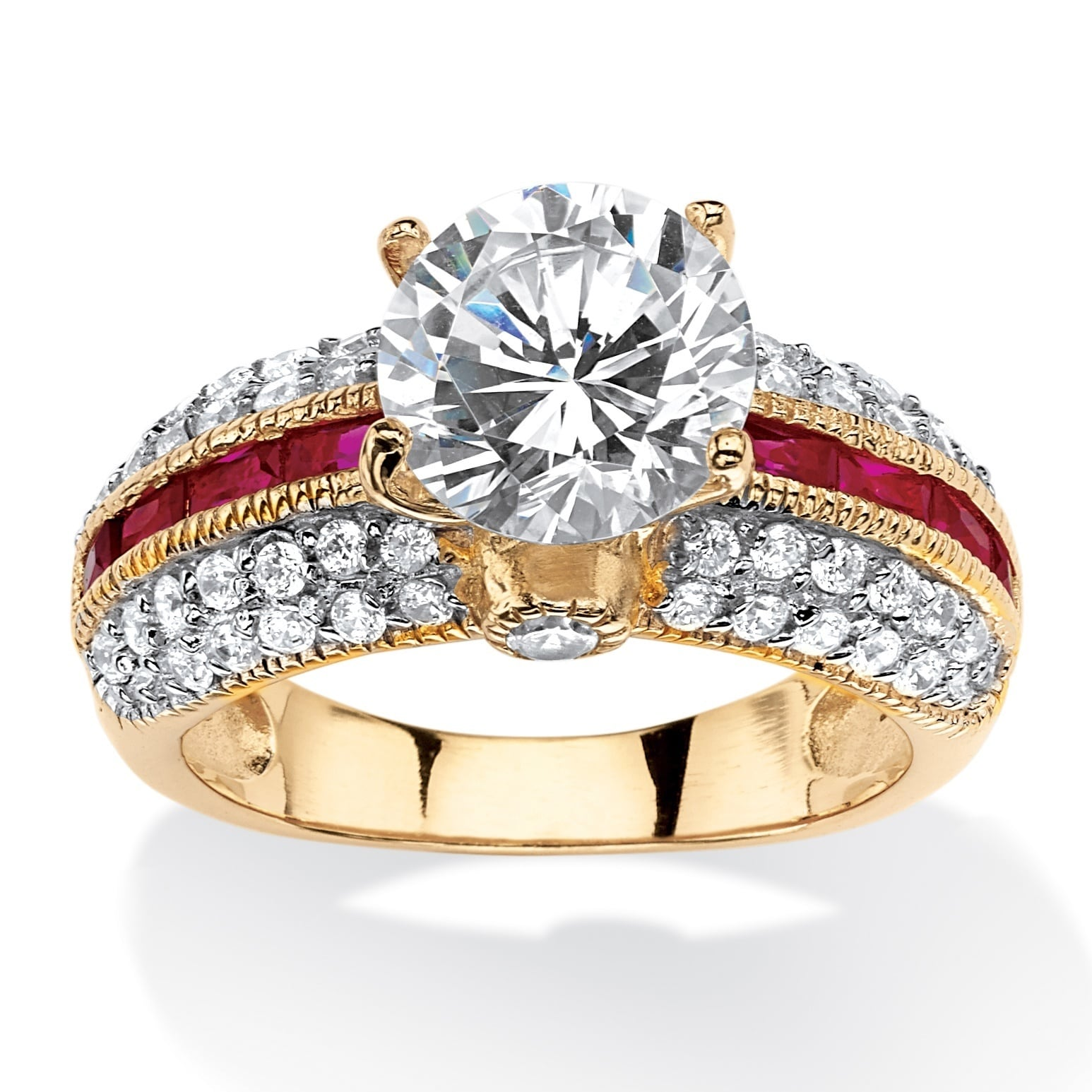 Palm Beach 5.51 TCW Round Cubic Zirconia and Lab Created ...