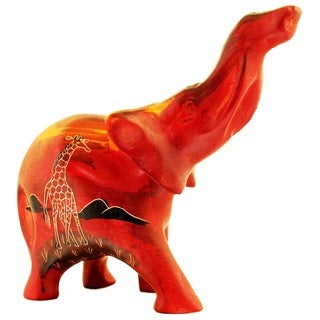 African Sunset Elephant Figurine (Kenya)