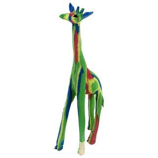 Handmade Recycled Flip Flop Rubber Giraffe Statue (Kenya)