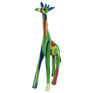 Handmade Flip Flop Rubber Giraffe Statue (Kenya)