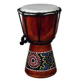 Handmade Jembe Drum Designed with a Paint Dropper (Indonesia)