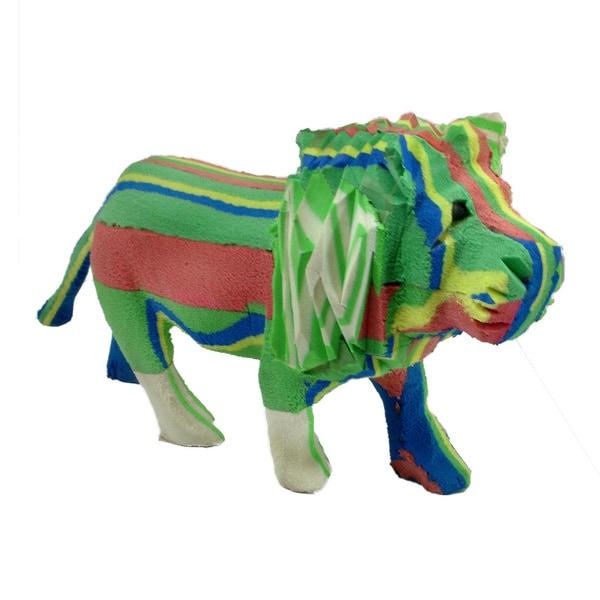 Handmade Recycled Flip Flop Rubber Lion Statue (Kenya)