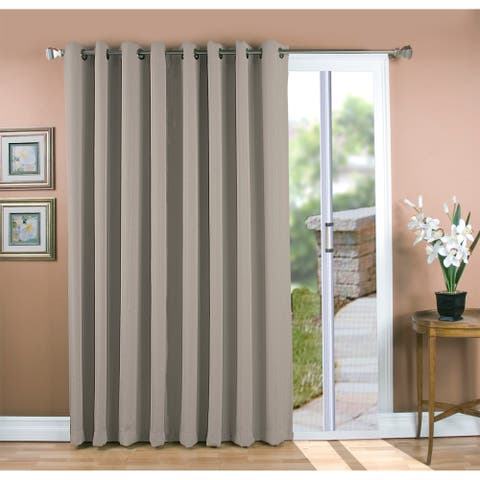 Grand Pointe Grommet Blackout Patio Panel with Attachable Wand