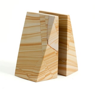 Natural Marble Wedge Bookends
