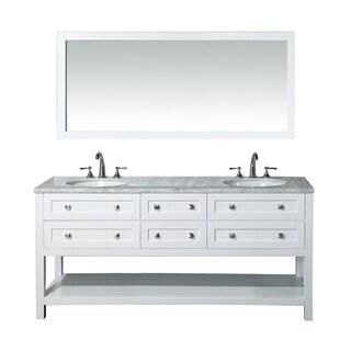 Stufurhome Marla 72-inch Double Sink Bathroom Vanity and Mirror Set
