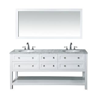 vanity bathroom double sink. Stufurhome Marla 72 inch Double Sink Bathroom Vanity and Mirror Set Size Vanities  Cabinets For Less