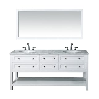 Stufurhome Marla 72 Inch Double Sink Bathroom Vanity And Mirror Set