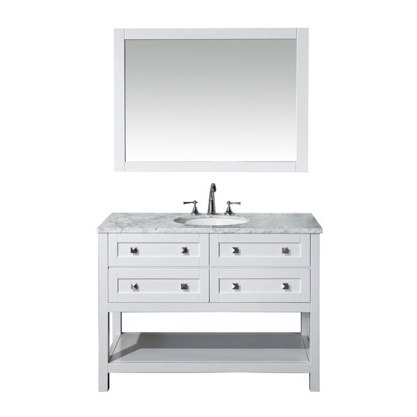 Stufurhome Marla 48-inch Single Sink Bathroom Vanity with Mirror