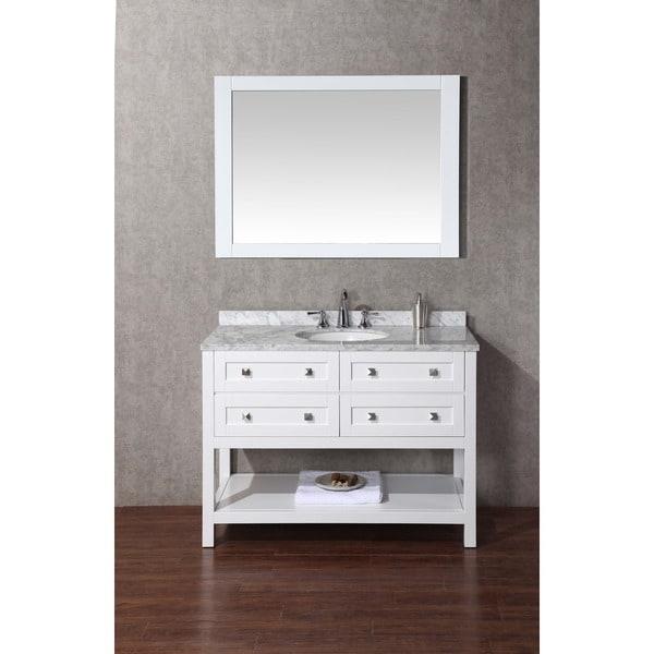 Stufurhome Marla 48 Inch Single Sink Bathroom Vanity With Mirror Free Shipping Today