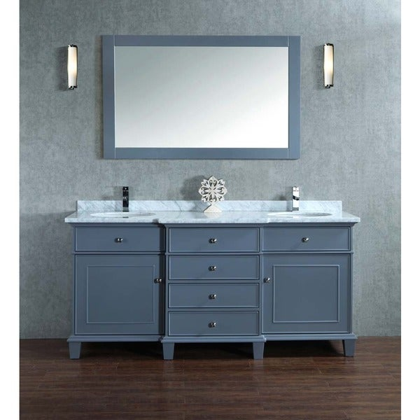 Stufurhome Cadence Grey 72-inch Double Sink Bathroom ...