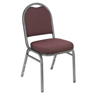 9200 Series Fabric Stack Chairs - 4 Pack (Diamond Burgundy Fabric on Silvervien Frames)