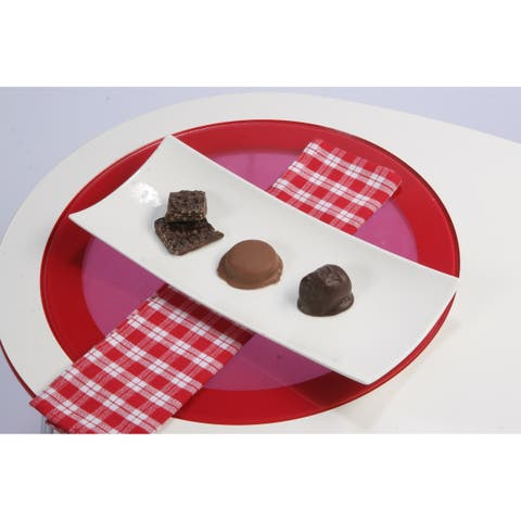 Red Vanilla Serving Plate (Set of 2)