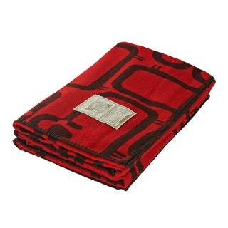 Woolrich 92468 Flock Of Sheep Old Red Throw