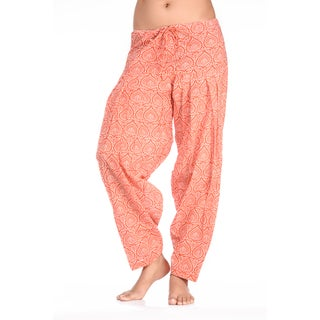 Handmade In-Sattva Women's Indian Abstract Feathers Print Patiala Pants (India)
