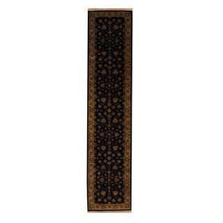 Herat Oriental Indo Hand-knotted Mahal Wool Runner (2'7 x 11'7)